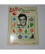 Elvis Sings The Wonderful World Of Christmas Songbook Music Book Piano G... - $44.51