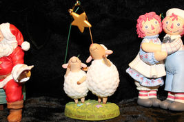 Hallmark Christmas Tree Ornament Santa snowman Raggedy Ann Andy lot of 6 image 5