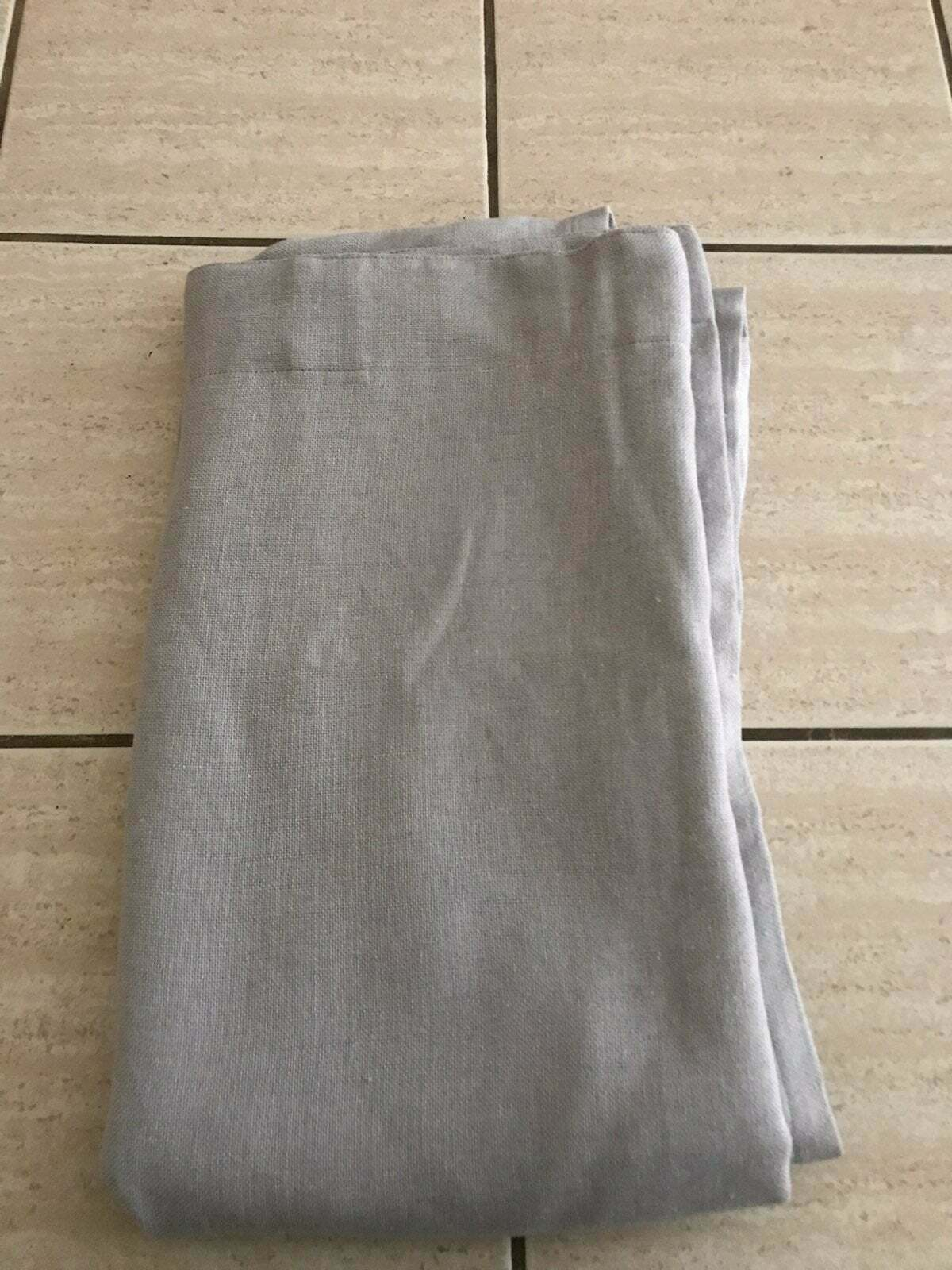 "Primary image for 1 X  Linen Look Lightblocking Curtain Panel Gray (50""x84"") - Threshold"