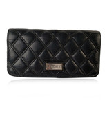 Authentic Chanel Black Aged Quilted Leather New York PNY Continental Wallet - $381.15