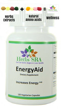 Energy Aid 120 capsules, Enhanced Energy, Beneficial, Ultra, Pure, Vitality - $18.75