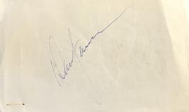 David Janssen & Carrol O'connor Dual Autographed Signed 3x5 Album Page w/COA - $119.99