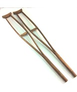 """Antique Childrens Wooden Crutches 32"""" Handmade Early 1900s Medical Instr... - $69.29"""