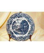 Staffordshire 2006 Engravings #9507 17th Century Blue Salad Plate - $6.29
