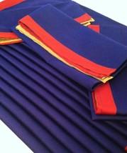 Lot/12 Pier 1 Imports Blue Red Gold Napkins 1 Dozen Color Block Cloth Bu... - $29.48
