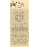 True Love Is For All Time Sweetheart Tree Cross Stitch Pattern Leaflet NEW - $2.67