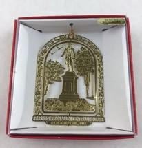 Nations Treasures Parson Amos Main Central Square Brass Metal Souvenir Ornament - $15.00