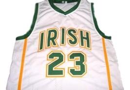 Lebron James #23 Irish High School Custom Basketball Jersey White Any Size image 1
