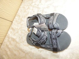 Gymboree kid's Hook and Loop Strap Trail Sandals  US size 13-1, gray - $5.59