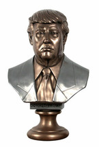 Collectible 45th President Donald Trump Historical Bust Statue-Bronze Fi... - $290.03