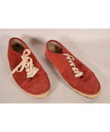 Rag & Bone Womens Espadrille Flat Lace Up Red Suede Tennis Shoes Sneaker... - $79.20