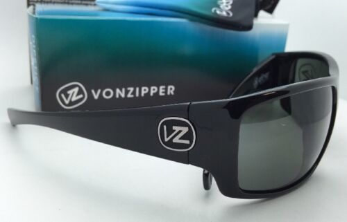 New ETHER Collection VONZIPPER Sunglasses SUPLEX Shiny Black Frame w/Grey Lenses image 5