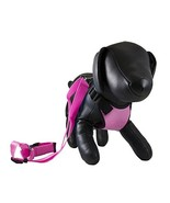 Petcessory PHB-001-PIN-M Travel Harness with Leash, Medium, Pink - $14.69