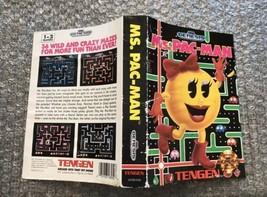 Ms. Pac-Man **ORIGINAL CASE/BOX ART ONLY** Sega Genesis - HEAVY WEAR - $4.27