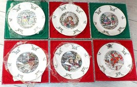 Set of 6 ROYAL DOULTON Annual Christmas Plates Series 1977 - 1982 (1) SI... - $58.87