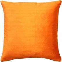 Pillow Decor - Sankara Orange Silk Throw Pillow 18x18 - $39.95