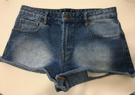 Forever 21 size 27 blue bootie distressed  jean shorts - $14.96