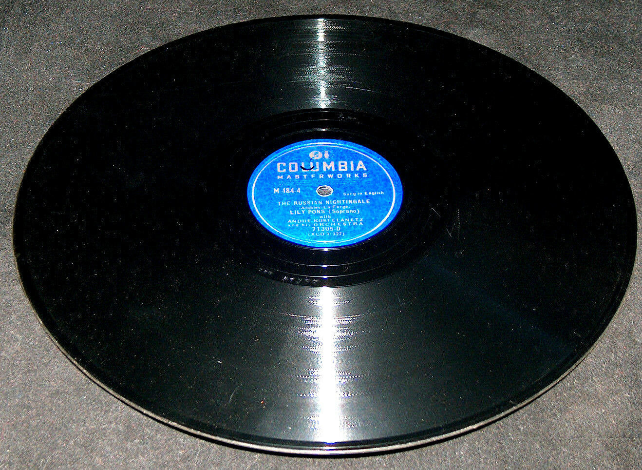 "Primary image for Columbia Record Lily Pons The Russian Nightingale Song Of India Sadko 12"" 78 RPM"