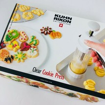 Kuhn Rikon Clear Cookie Press 14 Interchangeable Design Disks Recipes 2460  - $25.73