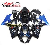 Black Blue Flames Injection Fairings Body Kit For Suzuki GSXR1000 K7 200... - $408.58