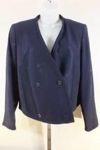 Giorgio Armani Jacke Blazer Marineblau Sz 10 Langärmlig Vintage Schulter... - $34.33