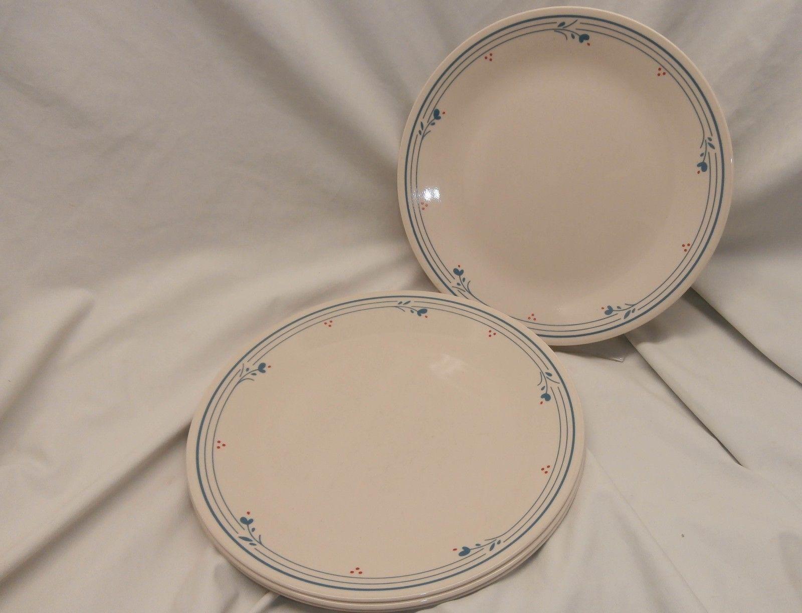 Set of 4 Corning Corelle Country Violets 10.25  Dinner Plates Retired USA - $30.72 & Corelle Glasses: 12 listings
