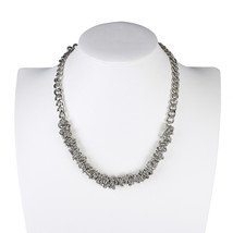 UE- Contemporary & Distinctive Silver Tone Designer Necklace - $19.99