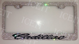 For Cadillac Stainless Steel Bling license plate frame Swarovski Crystals - $79.19