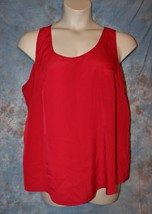 Womens Red Faded Glory Sleeveless Shirt Size XXL 20 excellent - $6.92