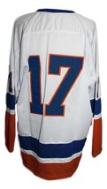 Custom Name # Fort Worth Texans Retro Hockey Jersey New White Any Size image 2