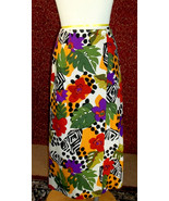 NWT WHITE STAG  muticolor floral animal tribal silk wrap skirt 14 (T2701... - $12.85
