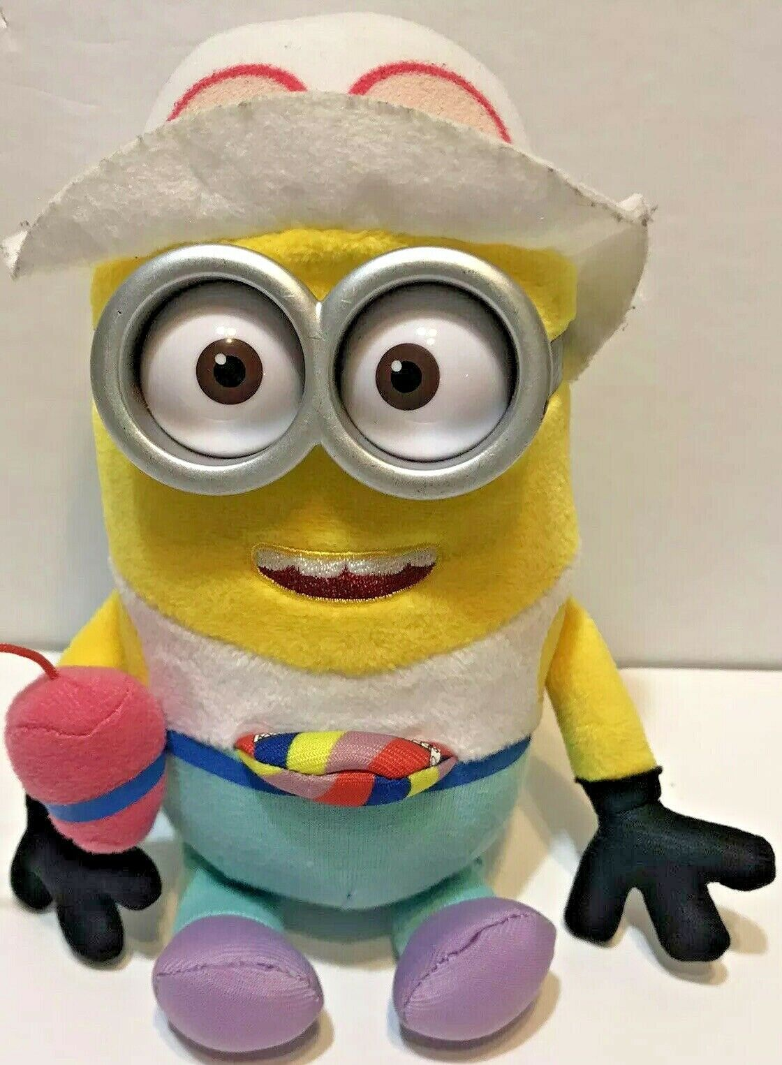 """Ty Beanie Babies Minion Despicable Me 3 Jerry in Tourist Outfit Bean Plush 8"""" - $13.59"""