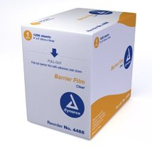 """Dental Barrier Film 4"""" X 6"""" Clear 1200-Sheets (Pack of 8) - $97.22"""