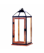 "Large Wooden Trim Contemporary Lantern 18""H (10018143) - $38.45"