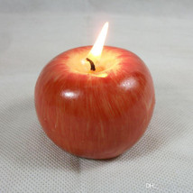Apple Candle Creative Simulation Fruit Candle hand made in uk