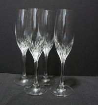 Fluted Champagne Romantique By Gorham Crystal , Set Of 4 - $85.00