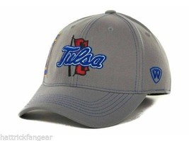 Tulsa Golden Hurricane - Tow Ncaa Sketched Gray Stretch Fit CAP/HAT - Osfm - $18.04