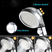 3-Function SPA Shower Head Stop Switch Bathroom Water Saving Spray Nozzle - $35.83