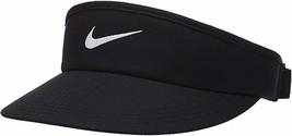 NEW! Nike Adult Unisex Adjustable Golf Visor, Black/Anthracite/White, BV... - $51.62
