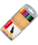 Stabilo Point 88 Fineliner Pigment Liner Assorted Colours - Wallet of 10 - $13.99