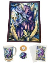 Tapps Home Décor Line 4 Piece Dragonfly Theme Gift Set: Fleece Throw Bla... - $49.88