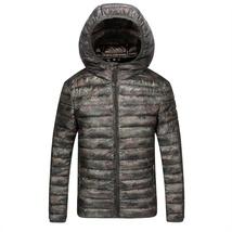 2018 Winter New Thin Down Jacket Short Section Men's Hood Down Jacket Men's Slim image 3