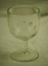 Vintage Thumbprint Clear Beer Glass Stemmed Barware Tool Man Cave MCM - $21.77