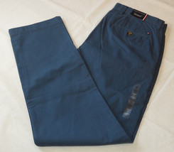 Men's Tommy Hilfiger pants 36 W 32 L custom fit 78A6633 slate blue 907 NWT - $51.47