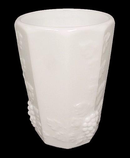 Westmoreland Paneled Grape 8 oz Tumbler Milk Glass