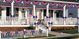 4th of July Party Outdoor Decorating Kit Banner Indoor Garden Home Decor - $29.51