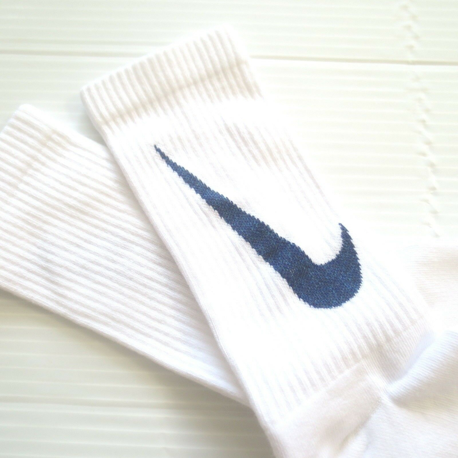 Nike Youth Cushioned Crew Socks - SX6840 - White - Size M - NEW