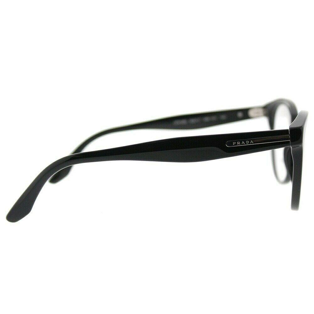 New Prada Eyeglass Frames PR05UV 1AB1O1 Black for Women Size 52 optical Frame