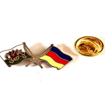 wales and germany flag pin Lapel Pin, Badge, tie pin,
