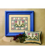 Mini Bees - ABC chart w/embellishment cross stitch chart The Bee Cottage  - $19.80